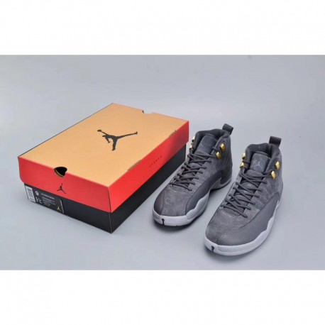 c8765192e397 New Sale Premium air jordan 12 retro dark grey cool gray 130690-005 Men s  Suede Gray Imports