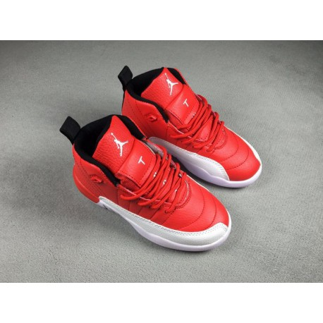detailed pictures 82e7c ca0f6 Air Jordan 12 White Red,Air Jordan 12 Red Velvet,Jordan 12 Kids Shoes Red  and White 28-35
