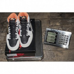 Gray black orange air jordan 1 neutral grey 555088-01