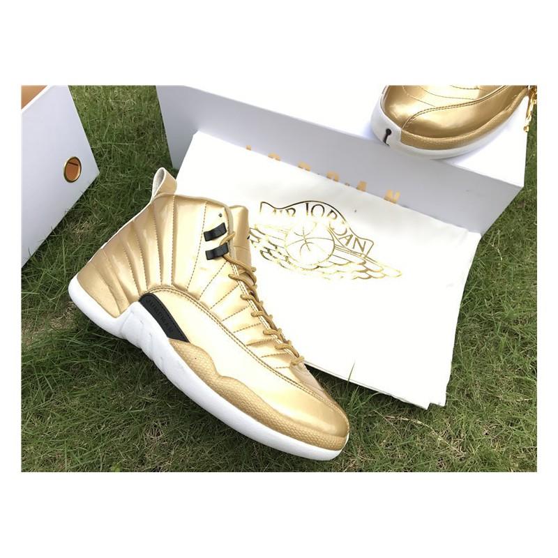 d7015e420a4a21 ... Aj12 local gold air jordan 12 pinnacle gold 130690-10 ...