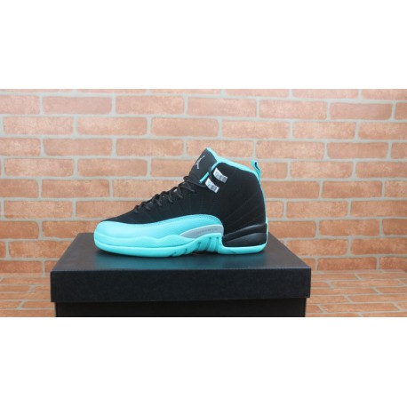 best deals on 6d5f2 0c9cb Air Jordan 12 Hyper Jade,Air Jordan 12 Black And Blue,Air Jordan 12 Jade GS  AJ12 black and blue mint female model 510815-017
