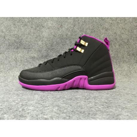 new style 2d9d4 83164 New Sale Air Jordan 12 Factory Lacing Air Jordan 4 12 GS Hyper Violet Black  Purple Aj12 510815