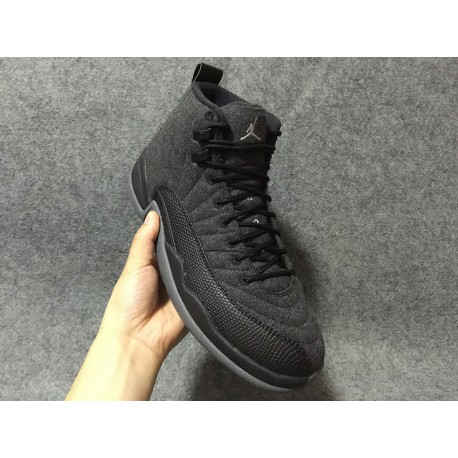 online store e55c8 3c5cd Air Jordan 12 Retro Wool Men's Shoe,Air Jordan Retro 12 Wool Dark Grey,Air  Jordan 12 Factory Lacing Class Air Jordan 12 Wool AJ