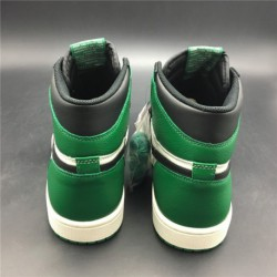 f34eb11efceffe 555088-302 updated air jordan 1 pine green black and white green toe  original leather