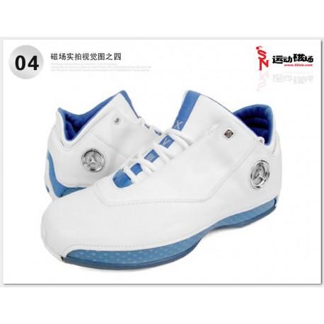 Air jordan 18 low white blue basketball-shoes 306151-10