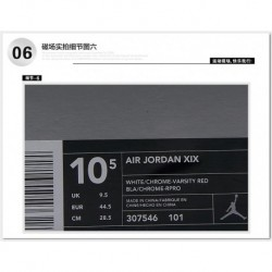 Air jordan 19 basketball-shoes white red 307546-10