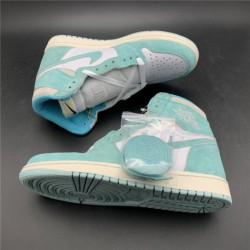 555088-311 air jordan 1 turbo green lake aqua green whit