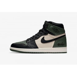 Air-Jordan-1-Ko-Militia-Green-Green-And-Black-Air-Jordan-1-555088-302-Air-Jordan-1-Pine-Green