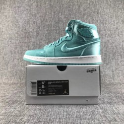 Air Jordan 1 Satin Blue Female Code Dongguan Original Outsole Open Edition Distinguishing The Market Currency Only Factory Laci