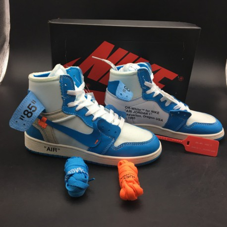 d80a8f6d1bae New Sale Aq0818-148 Jordan OFF-WHITE X Air Jordan 1 Deadstock North  Carolina Colorway OFF