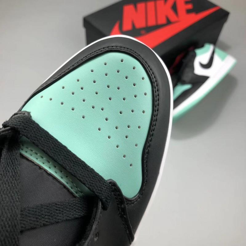 black and mint green jordans