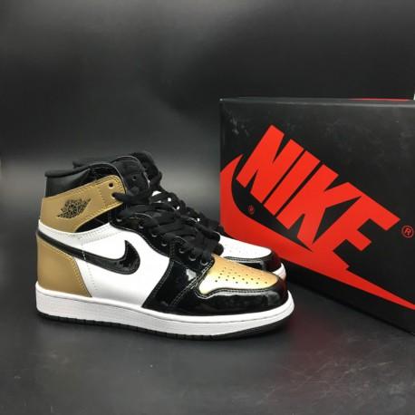 huge discount 88a1f 0dd3d Air Jordan 1 Top 3 Black Gold,Air Jordan 1 Black Gold Top 3,861428-001  Womens Market Premium Original Material Air Jordan 1 Top