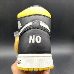 861428 premium update air jordan 1 nrg no l s not for resale white black yellow premium update editio