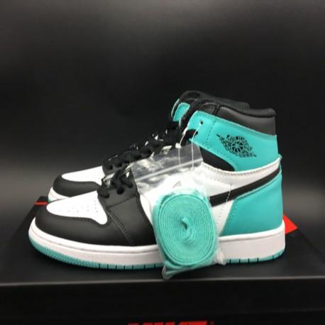 Air Jordan 1 Igloo,Nike Air Jordan 1 Igloo,861428 10 Womens Air Jordan 1 Igloo 浅玉 Leather Upper Original