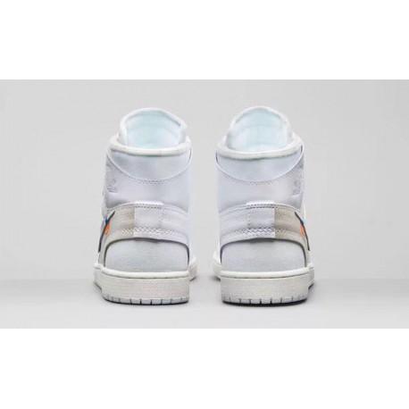 cd689be8c7583e New Sale Aq0818-100 OFF-WHITE X Air Jordan 1 White Premium Original Import  Materia