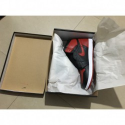 555088-001 Quality Inspection Aj1 Air Jordan 1 Retro High OG Banned Premium Original Leather Uppe